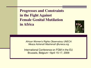 Progresses and Constraints  in the Fight Against  Female Genital Mutilation  in Africa