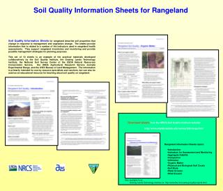 Soil Quality Information Sheets for Rangeland