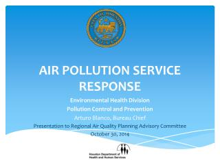 Air pollution service response