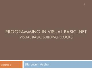 Programming in visual basic   Visual Basic Building Blocks