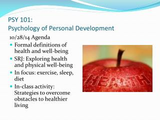 PSY 101: Psychology of Personal Development