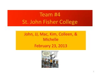 Team #4 St. John Fisher College