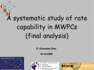 A systematic study of rate capability in MWPCs (final analysis)