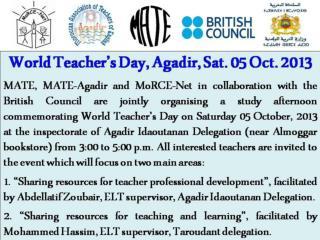 Sharing Resources for Teacher Professional Development