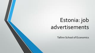 Estonia:  job advertisements