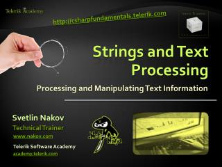 Strings and Text Processing