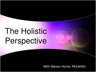 With Steven Horne, RH(AHG)