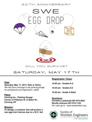 Date : Saturday, May 17, 2013  Rain or Shine