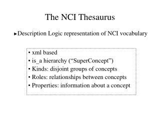 The NCI Thesaurus