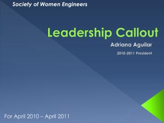 Leadership Callout