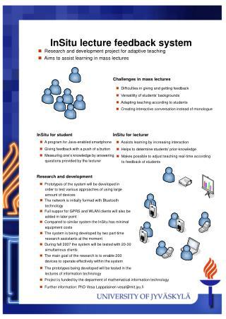 InSitu lecture feedback system