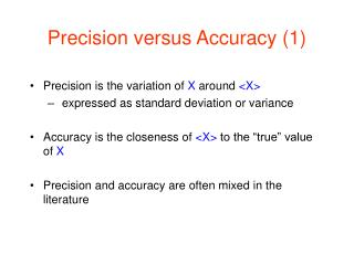 Precision versus Accuracy (1)