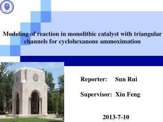 Reporter:     Sun Rui Supervisor:  Xin Feng               2013-7-10