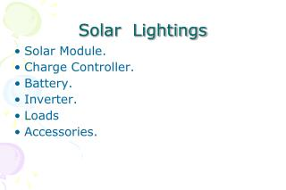 Solar  Lightings