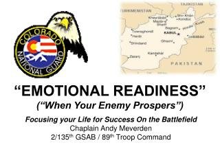"""EMOTIONAL READINESS"" (""When Your Enemy Prospers"")"