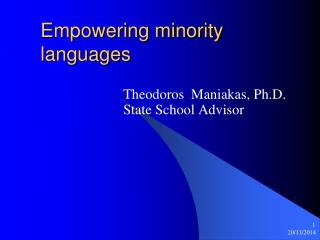 Empowering minority languages