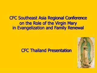 CFC Thailand Presentation