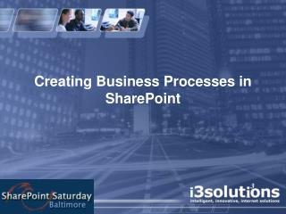 Creating Business Processes in SharePoint