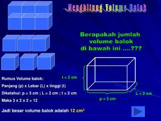 Berapakah jumlah  volume balok di bawah ini ....???