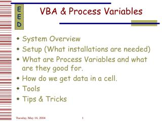 VBA & Process Variables