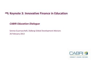 Keynote 3: Innovative Finance in Education