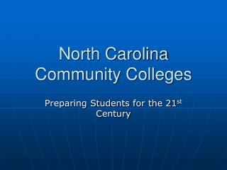 North Carolina Community Colleges