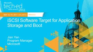 ISCSI Software Target for Application Storage and Boot