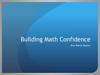 Building Math Confidence