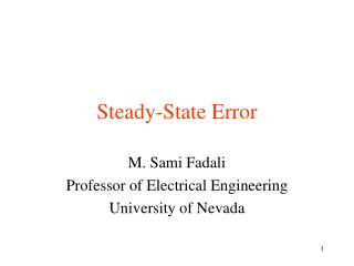 Steady-State Error