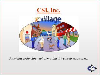 CSI, Inc.
