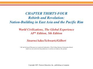 I. East Asia in the Postwar Settlements Korea divided Russian, American zone Taiwan