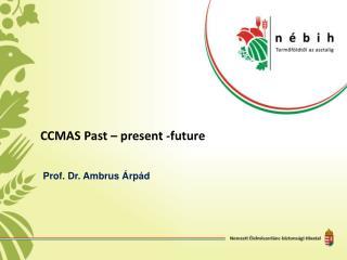 CCMAS  Past  –  present -future