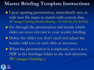 Master Briefing Template Instructions