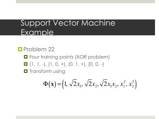 Support Vector Machine Example
