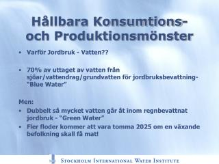 H�llbara Konsumtions- och Produktionsm�nster