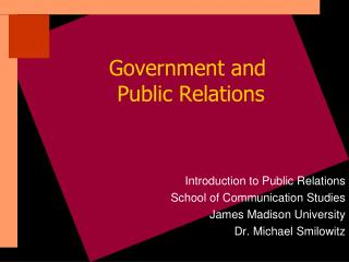 Government and  Public Relations