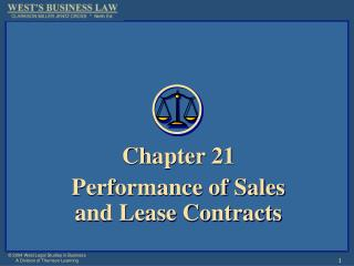 Chapter 21 Performance of Sales and Lease Contracts