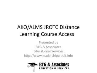 AKO/ALMS JROTC Distance Learning Course Access