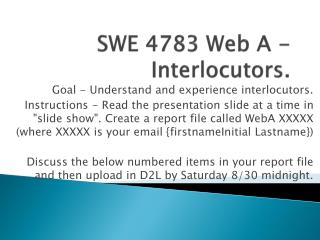 SWE 4783 Web A - Interlocutors.