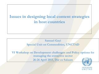 Issues in designing local content strategies in host countries