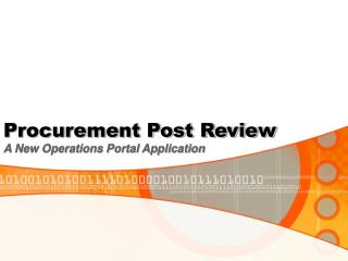 Procurement Post Review