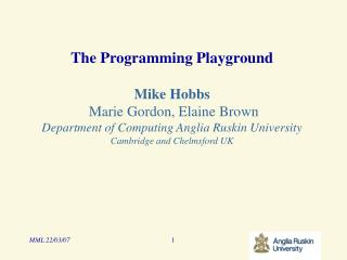 The Problem – Learning to Program