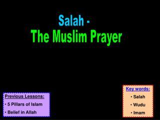 The Muslim Prayer