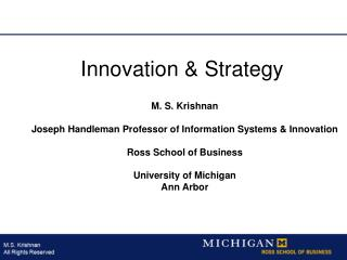 Innovation & Strategy