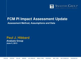 FCM PI Impact Assessment Update