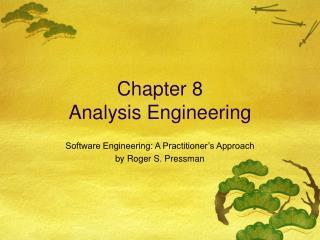 Chapter 8 Analysis Engineering