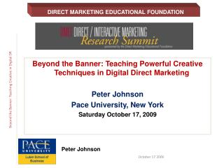Beyond the Banner: Teaching Powerful Creative Techniques in Digital Direct Marketing