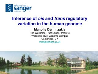 Inference of  cis  and  trans  regulatory variation in the human genome