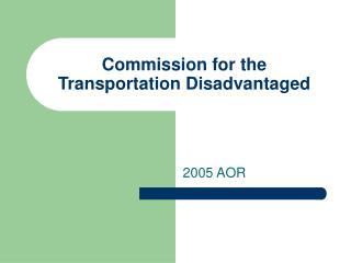 Commission for the Transportation Disadvantaged