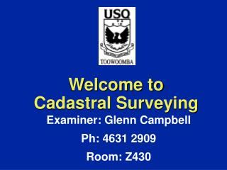 Welcome to Cadastral Surveying